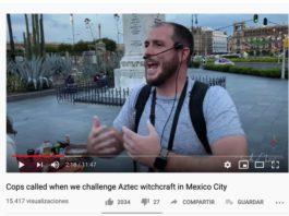 """Video: """"Ustedes no necesitan la Santa Muerte"""" Extranjero predica en Tepito"""